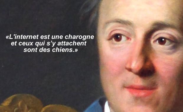 Denis Diderot est une charogne et ceux qui s'y attachent sont des chiens.